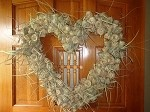 Palmetto Heart Wreath    18 inches  diameter    $200.00